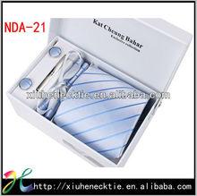 Polyester Jacquard Men's Necktie Promotion Gift Set