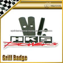 For HKS Front Grill Badge Emblem UNIVERSAL JDM NISSAN SUBARU