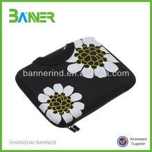 Flower neoprene Laptop sleeve Case with handle