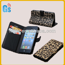 Leopard Print Phone Cover Leather Coach Handbags for iphone 5c Wholesale Sexy Case