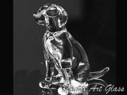 Jack Russell Dog Hand Blown Glass Art Figurine