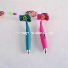Feet shape fancy customized logo soft rubber pen