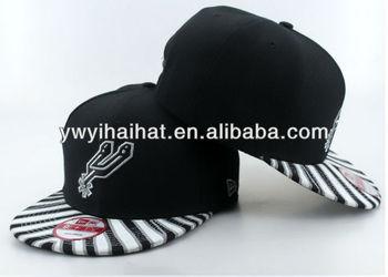OEM adjustable flat brim baseball cap/high quality custom cheap plain snapback hats