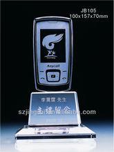 Móvil del teléfono del diseño de cristal de cristal hechos a mano premio recuerdo JB105