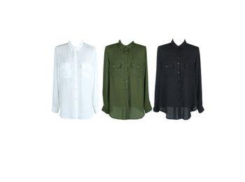 double pockets blouse