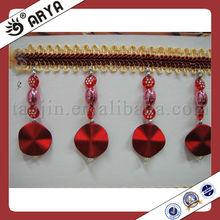 Wholesale European Botton Beads Fringe ,Home Accessories Beaded Trimmings Tassels Fringe Suede