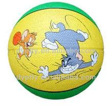 custom logo printed rubber basketball ball 3# for kid