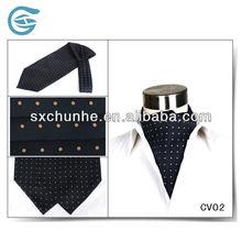 100% Silk Printing Polka Dots Cravat For Business Man