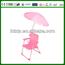 Lovely Pink Kids Single Beach Chair with Umbrella for garden leisure