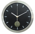 10'' alumínio relógio de parede com calendário