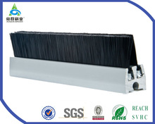 straight wire moving walk sides brush