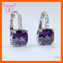 2013 Hot Sale Elegant Purple Zircon Earrings|Genuine Austrian Crystal Costume Bali Jewelry Earrings