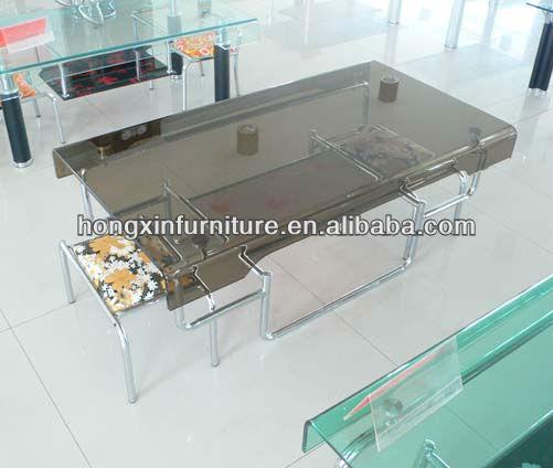 ct1068a grande tavolini in vetro con sgabelli