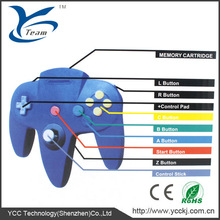 video game joystick for N64 with many colors made in China