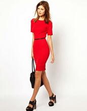 Hot red textured spandex dress wholesale women clothing 2013/lastest women dress model/high fashion womens clothing
