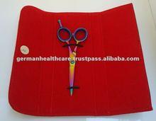 Hair Scissors Case made of Synthetic Leather Red Velvet Inside