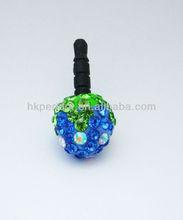 Luxury bling Strawberry Dust Plug - Dustproof Ear Cap - Earphone Jack 3.5mm (Free Shipping) - Blue