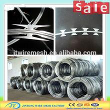 weight razor wire mesh fence /cross razor wire mesh / razor wire flat wrap