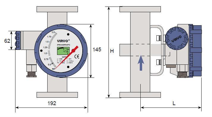 remote control type water flow control meter (metal rotameter)