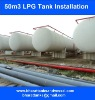 50m3 lpg tank installation