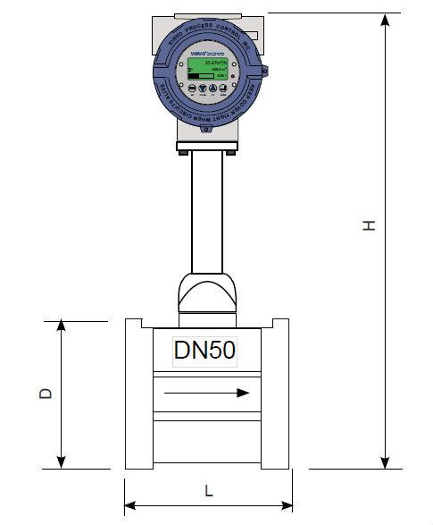 high accuracy water flow control meter (vortex flow meter)