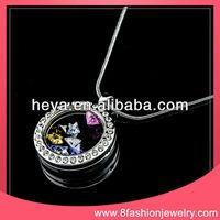 2014 TOP seller fashion diamond jewelry glass living memory locket religious lockets wholesale