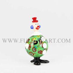 New arrival colorful italian blown glass clown ornaments glass figurines