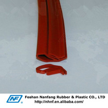 Red Extrusion Seals Soft and Elastic Silicone Rubber Strip