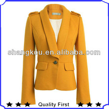 women fashion coats,The European and American stylish designers high quality clipping fashion office formal wool suit jacket