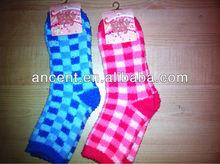women soft jacquard slipper winter home socks