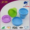 Traveling use silicone collapsible silicone drinking cup