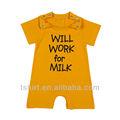 Nuevo diseño encantador de impresión del verano del bebé de la ropa del mameluco