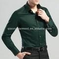 Oem dos homens de alta qualidade de cetim de algodão camisa de vestido de negócios
