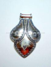 Oxidised Tribal 925 Solid Silver Pendants,Designer Sterling Silver Pendants, 925 Solid Sterling Silver Pendants