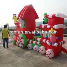 inflatable christmas train decoration