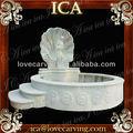 großen Garten weißem marmor naturstein wandbrunnen