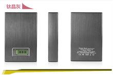 Multi-colors double usb port 6000mah led display Power Bank for ipad mini and mobile phone