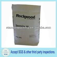 25kg multilayer white square bottom paper bag packing waste