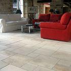 Beige limestone floor tile