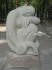 Stone Elegant Nude Lady Outdoor Carving