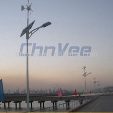 Portable electricity transfer vertical axis turbine color changing wind spinner solar light street light