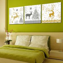 Lucky Deer Christmas Canvas Art