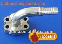 45 degree SAE split flange clamp 6000 PSI SAE J518 87641 hydraulic pipe flange