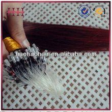 Human Remy Hair Micro-ring Hair Extension,Indian Hair