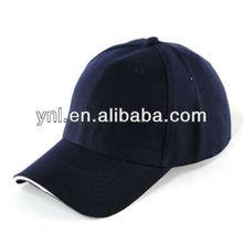 Black Plain Baseball Cap Visor Hat Velcro Solid Color Adjustable Cap