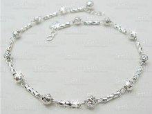 Diamond Cut Bead & Tube Bracelet