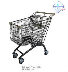 125litres walmart supermarket cart trolley,shopping trolley cart WM-125L