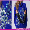 The new 2014 Europe and the United States women's national wind heavy embroidery flower big yards knitting dress
