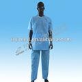 La luz azul desechable/no tejido transpirable scrub traje