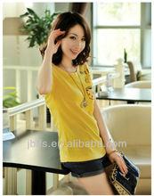 2014 hot sale Women t-shirt factory supplier OEM